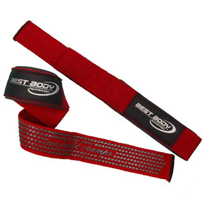 Lat Pull Strap Top Grip - red - pair