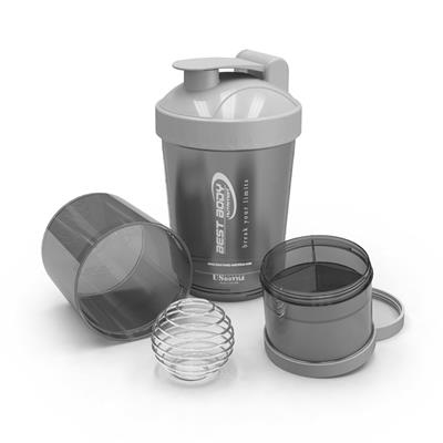 Protein Shaker USBottle - black/silver - design BBN Hardcore - unit