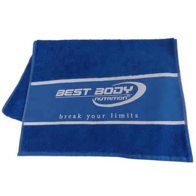 Fitness Handtuch 50 x 100 - blau - Design Best Body Nutrition - Stück