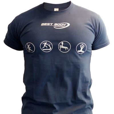 T-Shirt - Aufdruck Best Body Nutrition - blau - S - Stück