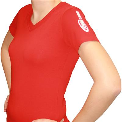 Woman Shirt - V-Style - red - S - unit