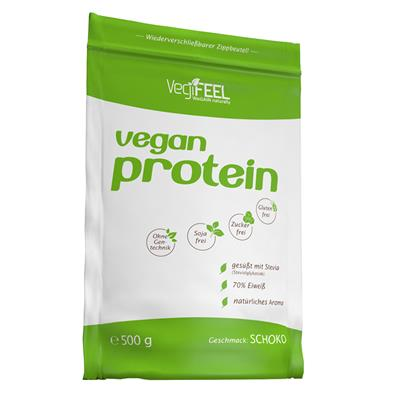 Vegan Protein - Chocolate - 500 g zip bag