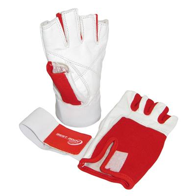 Woman Line Gloves + Bandage - white/red - XS - pair