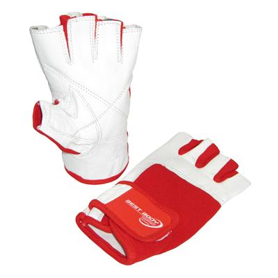 Woman Line Gloves - white/red - XL - pair