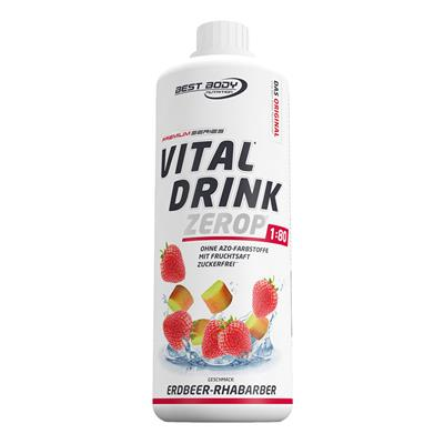 Vital Drink - Strawberry Rhubarb - 1000 ml bottle