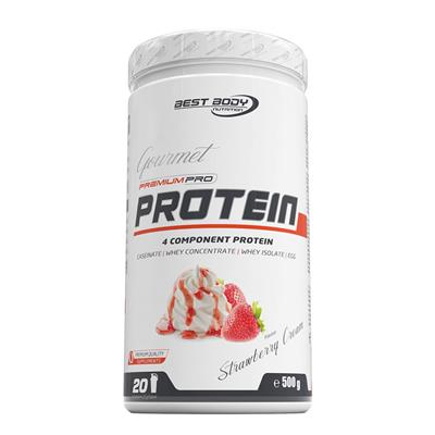 Gourmet Premium Pro Protein - Strawberry Cream - 500 g Dose