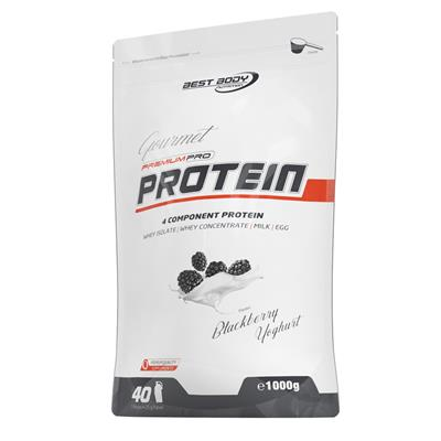 Gourmet Premium Pro Protein - Blackberry Yogurt - 1000 g zip bag