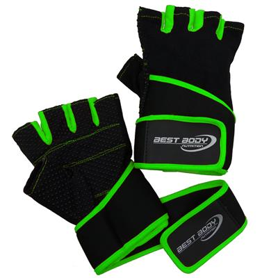 Fitness Gloves Fun - green - L - pair