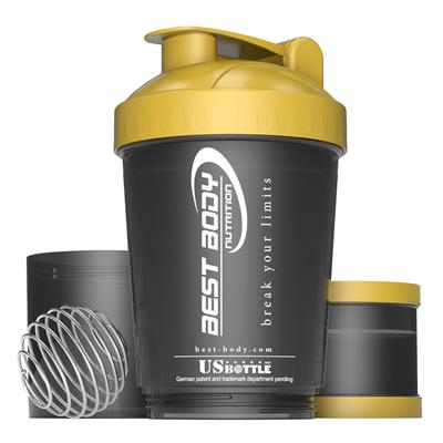 Protein Shaker USBottle - black/ gold - design Best Body Nutrition - unit